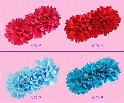 "16 BLESSING Good Girl Boutique 4.5"" Pompon Hair Bows Clip Accessories Flower for sale  Shipping to India"
