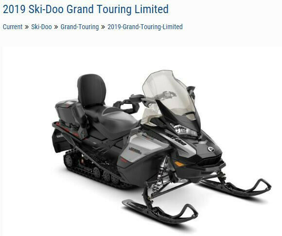 2019 Ski Doo Grand Touring Limited 600R E-Tec Grey/Black