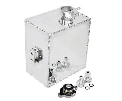2.5l Polished Aluminum Radiator Coolant Overflow Tank Expansion Bottle Universal
