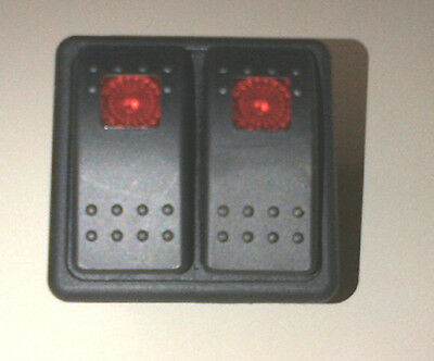 CARLING LIGHTED MOM SWITCH VLD1 WITH PANEL CARLING RED/ORANGE LENS, 8 TERMINAL