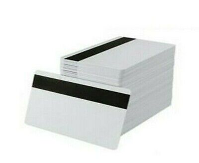White Cr80 Pvc Cards With Hi-co Magnetic Stripe - Pack Of 500
