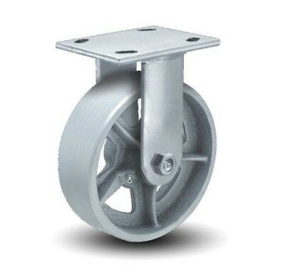 One Rigid Caster With Heavy Duty Cast Iron 6 X 2 Wheel 1250 Capacity