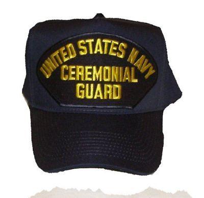 USN NAVY CEREMONIAL GUARD HAT CAP DRILL TEAM COLOR GUARD FUNERAL CASKET BEARERS