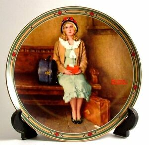 Norman Rockwell collector plate A Young Girl's Dream""