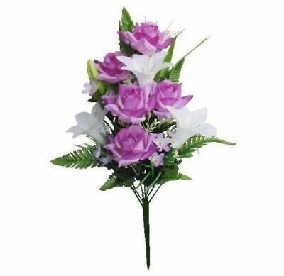 - Purple-White Rose Lily Memorial 20