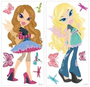 BRATZ-FASHION-PIXIES-BiG-Wall-Stickers-Mural-Room-Decor-Decals-Fairy-Butterflies