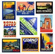 Vintage Luggage Stickers