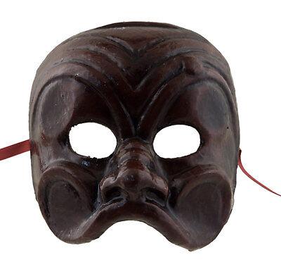 Mask from Venice Brighella Paper Mache Brown 6958 VG8
