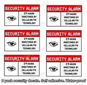Home Alarm Stickers