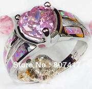 Sterling Silver Opal Ring Size 7