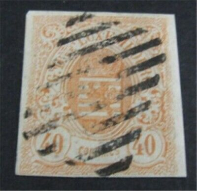 nystamps Luxembourg Stamp # 12 Used $240 Signed   L23y650