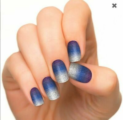 InCoCo Nail Strips Nail Art Spaced Out - Stary Night - Purple-Blue Hombre
