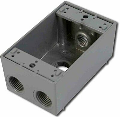 Greenfield B24ps Series Weatherproof Electrical Outlet Box Gray