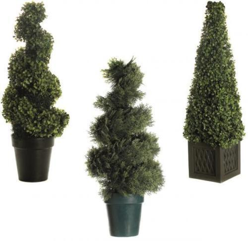 Artificial Decorative Light Up Led Topiary Tree Bush Garden Indoor Buxus Pot Ebay
