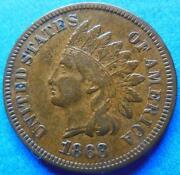 1868 Indian Head Penny