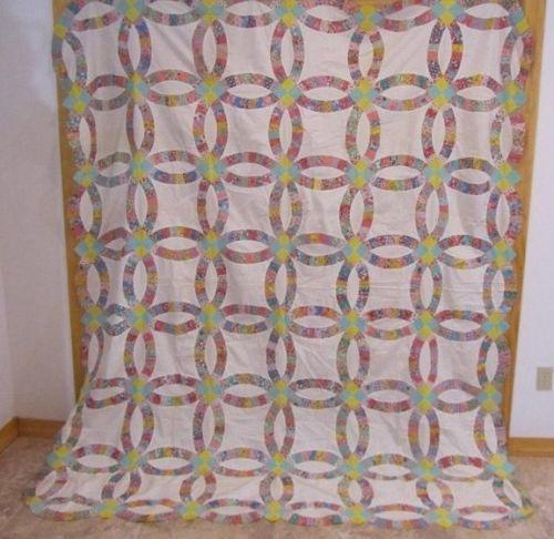 double wedding ring quilt top - Wedding Ring Quilts