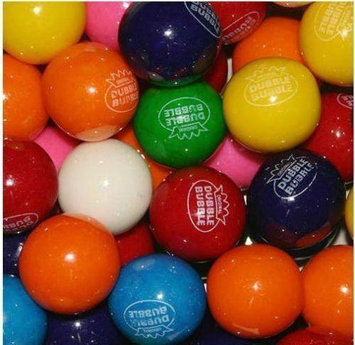 """3 pounds of Assorted Flavor 1"""" Gumballs for Bulk Vending machines Dubble Bubble"""