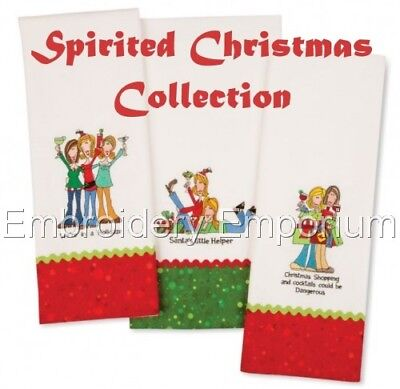 - SPIRITED CHRISTMAS COLLECTION - MACHINE EMBROIDERY DESIGNS ON CD OR USB