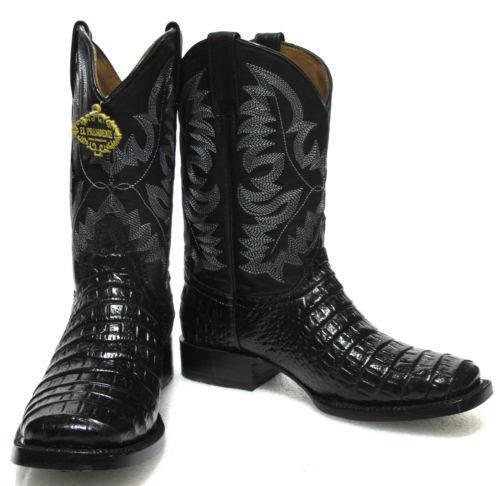 Square Toe Alligator Boots Ebay