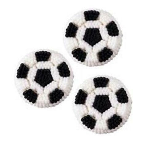 Soccer Ball Edible Sugar Decorations Delectable Soccer Cake Decorations  Ebay Design Ideas
