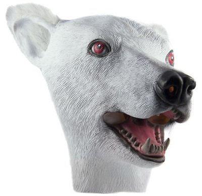 Polar Bear Mask (HMS Polar Bear Realistic Rubber Animal)