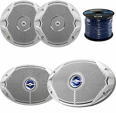 """NEW Coaxial 6 /""""White Speaker 150 Watt Marine Hardware SPKR-CTS602-W"""