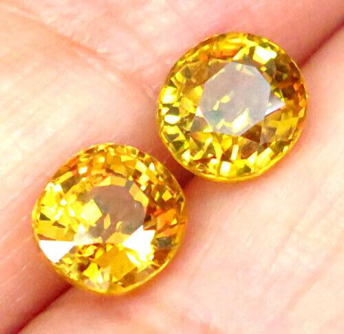 2.82ct. Matching Pair Golden Yellow Grossular Mali Garnet VVS