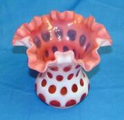 Fenton Cranberry Coin Dot