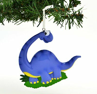 Dinosaur Purple Personalized Christmas Tree Ornament - Dinosaur Ornament