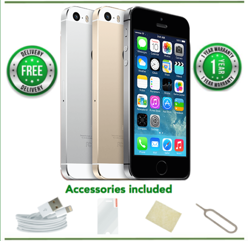 SELLER REFURBISHED APPLE IPHONE 5S - 16/32/64GB - GOLD/SILVER/GREY (UNLOCKED) - A/B/C CONDITION