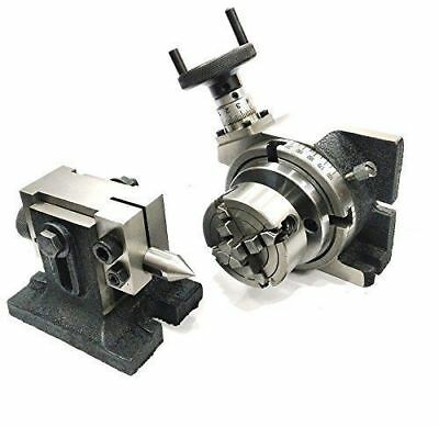 Horizontal Vertical Milling Indexing 4100 Rotary Tabletailstock 70 Mm 4 Jaw
