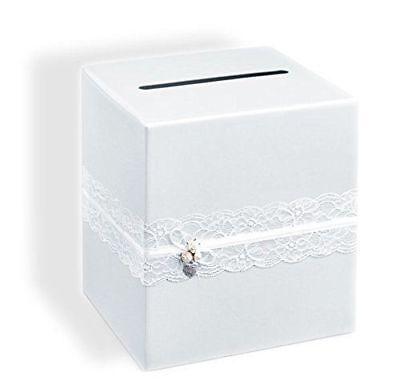 Briefbox / Kuvertbox / Geldbox in weiß für Hochzeitskarten - Hochzeitsdeko  (Hochzeit Geschenk-boxen Für Karten)