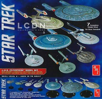 Star Trek USS Enterprise Box Set 7 Models Ship 1/2500 Model Kit AMT 954 NCC-1701