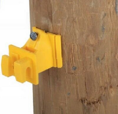 Dare 100 Count Yellow Snug Wood Post Insulator