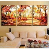 3PC HUGE MODERN ABSTRACT WALL DECOR ART CANVAS OIL PAINTING(no framed)
