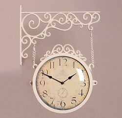 Antique Classic Double Sided Wall Clock Decor Modern Station Clock - M250IV CR
