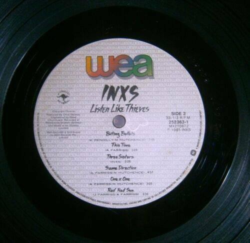 INXS LISTEN LIKE THIEVES VINYL LP GATEFOLD WEA 252363 1 Aus 1985