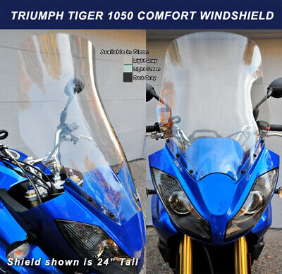 CEE BAILEYS TRIUMPH TIGER 1050 SCREEN   20 INCHES TALL IN  CLEAR   SUP