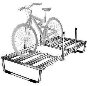 Bike Rack for a tent trailer or popup trailer