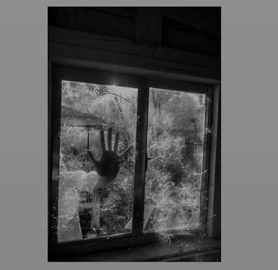 Scary Creepy Hand Window PHOTO Shocking Freaky Spooky Haunted House Intruder