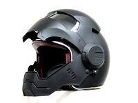 Iron-Man Black Open face Motorcycle Helmet