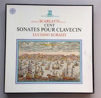 (COMPLETE DOMENICO SCARLATTI 100 SONATAS FOR HARPSICHORD 6 LP BOX SET)