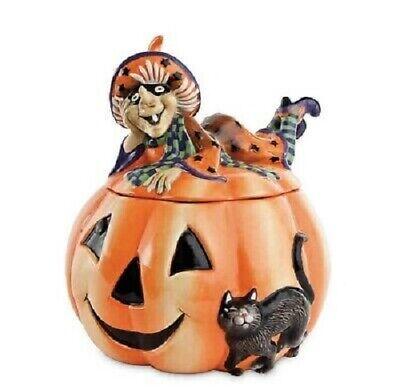 Fitz and Floyd Witch Hazel Halloween Cookie Jar Brand New