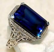 Sapphire Filigree Ring
