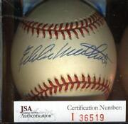 Eddie Mathews Signed Baseball