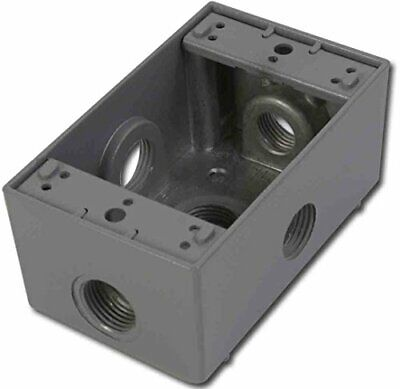 Greenfield B25sps Series Weatherproof Electrical Outlet Box Gray