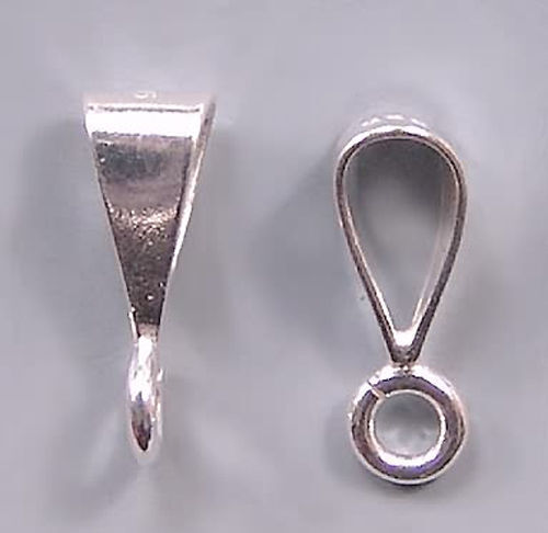 Simple Shiny Bail Sterling Silver Open Loop #631 (3) Plain Bails