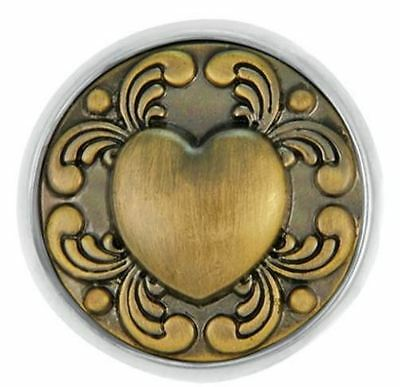 Ginger Snaps Jewelry Brass Tattoo Heart SN01-09 Buy 4, Get One $6.95 Snap Free