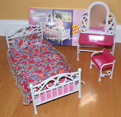 NEW GLORIA DOLL HOUSE FURNITURE CLASSIC Beauty Bedroom (9314)