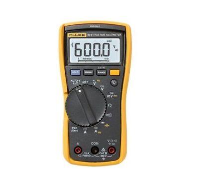 Fluke 117 Digital Multimeter Electrical True Rms Tester With Volt Alert Detector